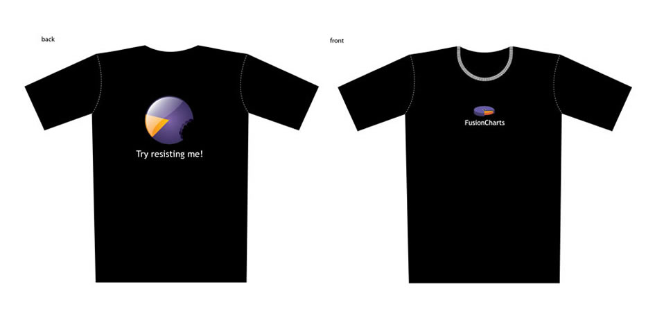 FusionCharts t-shirt design
