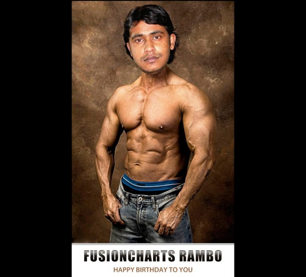 Rambo concept for Sandip's birthday at FusionCharts