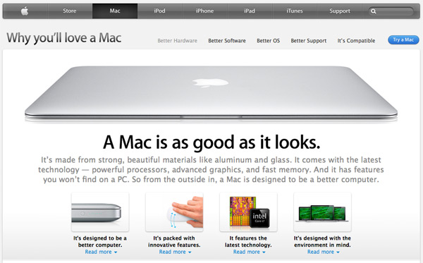 Apple's Why Mac section