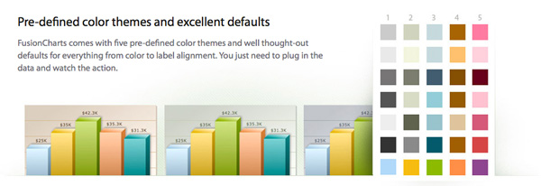 Explanation of the color themes feature with detailed graphics