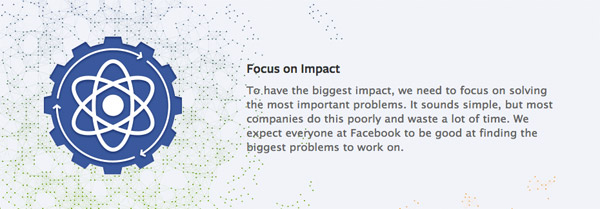 Facebook Values - Focus on Impact