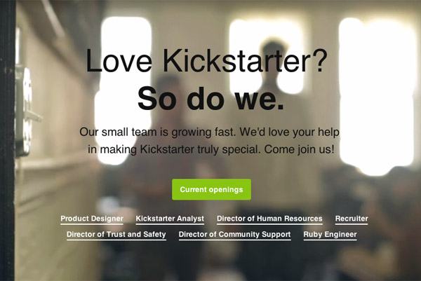Kickstarter Careers - HTML5 video