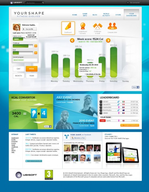 Yourshape web dashboard