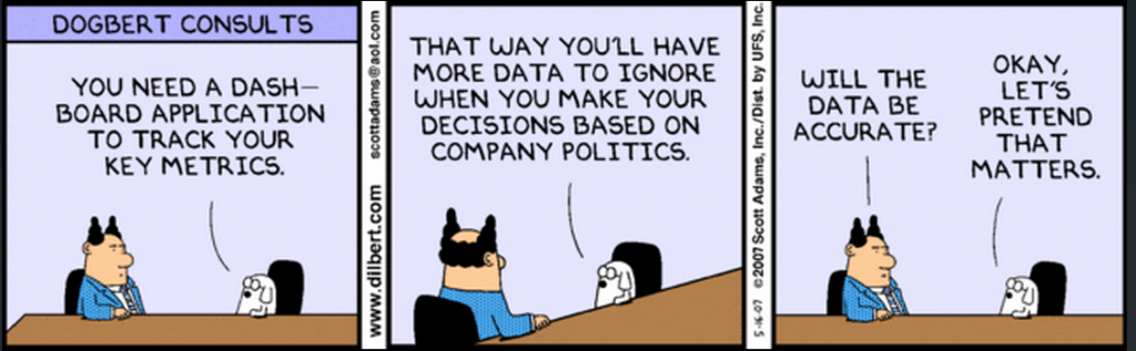 Dilbert's take on Information Dashboard