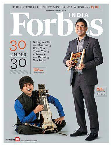 Pallav, CEO of FusionCharts, in Top 30 under 30 List of Forbes India