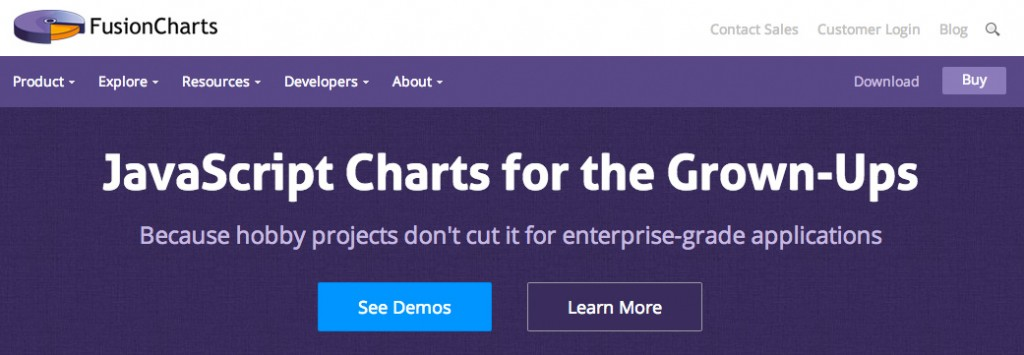 The tagline - JavaScript Charts for the Grown-Ups