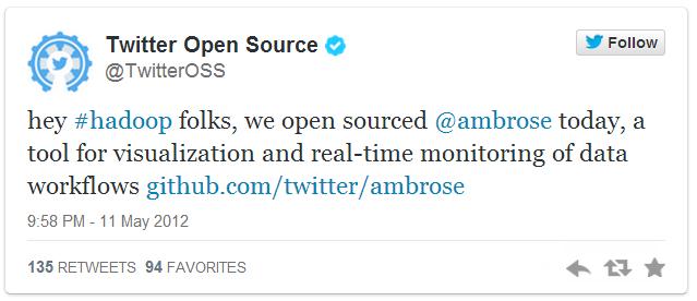 Ambrose Open Source tweet