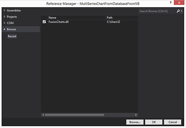 Adding fusioncharts dll_620