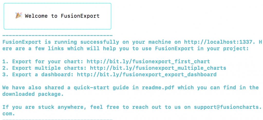 Download and run the FusionExport Server