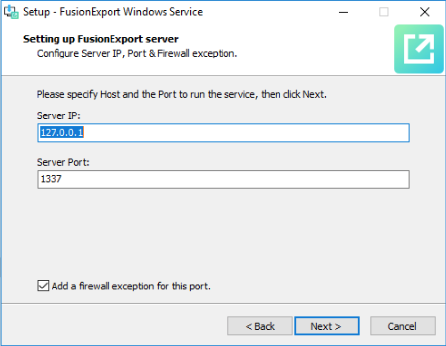 Configure IP address for Windows Service